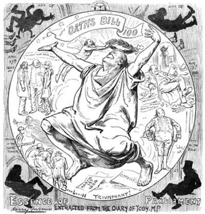 Bradlaugh Cartoon