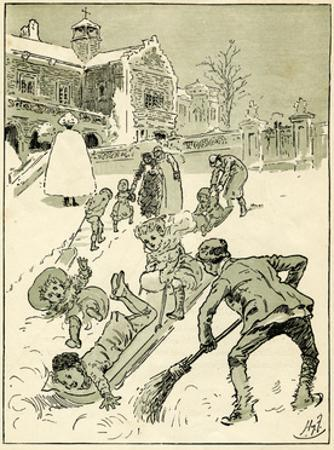 Children Play on their Sledges