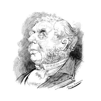Puzzle Head Depicting British Politician George Joachim Goschen, from Punch, 1899