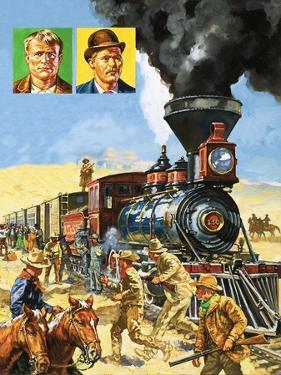 Butch Cassidy and the Sundance Kid Hold Up a Train by Harry Green