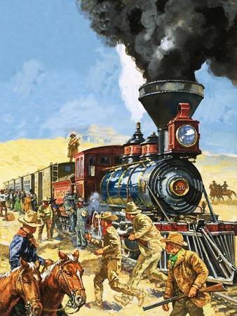 Butch Cassidy and the Sundance Kid Hold Up a Union Pacific Railroad Train