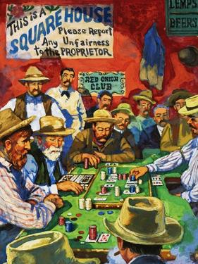 Cowboys Playing Faro in a Saloon by Harry Green