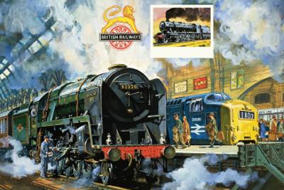 Evening Star, the Last Steam Locomotive and the New Diesel-Electric Deltic