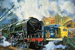 Evening Star, the Last Steam Locomotive and the New Diesel-Electric Deltic by Harry Green
