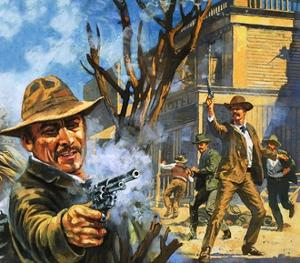 The Bloody Gunfight in the Town of Ingalls in 1893 by Harry Green