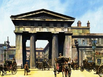 The Classical Portico of the Old Euston Station