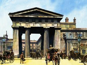 The Classical Portico of the Old Euston Station by Harry Green