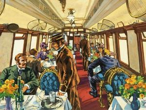 The Comfort of the Pullman Coach of a Late-Victorian Passenger Train by Harry Green
