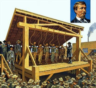 The Massive Gallows Built on Judge Parker's Orders Which Could Have 12 Men at a Time