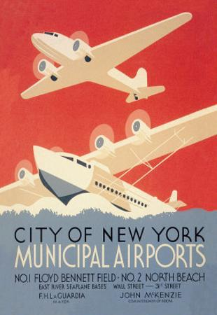 City of New York Municipal Airports by Harry Herzog
