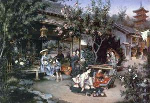 Yoshiwara, Japanese Leisure Area, 1887 by Harry Humphrey Moore