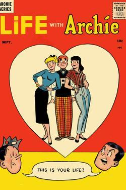 Archie Comics Retro: Life with Archie Comic Book Cover No.1 (Aged) by Harry Lucey