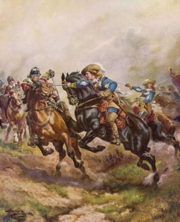 Battle of Edgehill: Prince Rupert's Charge by Harry Payne