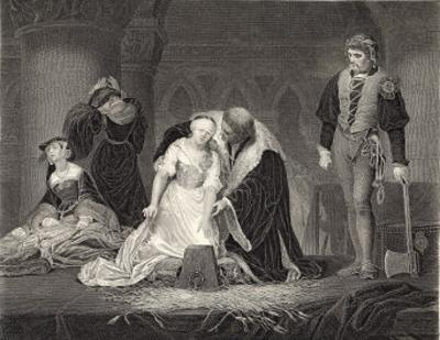 Lady Jane Grey Queen for Nine Days is Beheaded at the Tower of London on Charges of Treason by Harry Payne