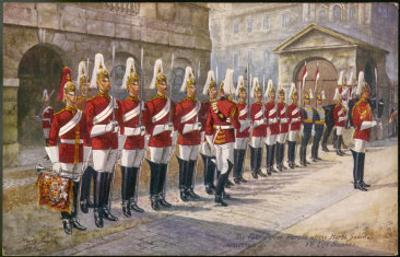 Parade of the First Life Guards in Whitehall by Harry Payne