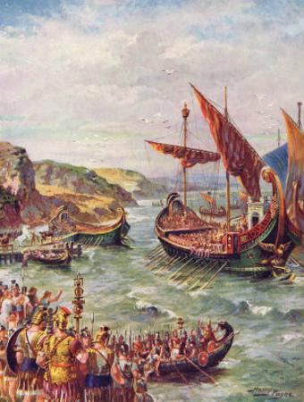 The Romans Leave England by Harry Payne