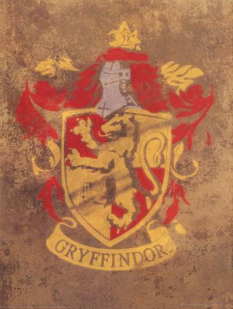Harry Potter (Gryffindor Crest) Movie Poster