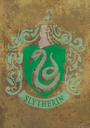 Harry Potter (Slytherin Crest) Movie Poster