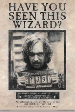 HARRY POTTER - WANTED SIRIUS BLACK