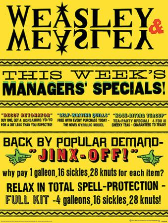 Harry Potter (Weasley & Weasley Specials) Movie Poster