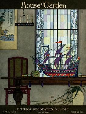 House & Garden Cover - April 1919 by Harry Richardson