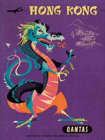 Hong Kong - Qantas Airways - Chinese Treasure Dragon by Harry Rogers