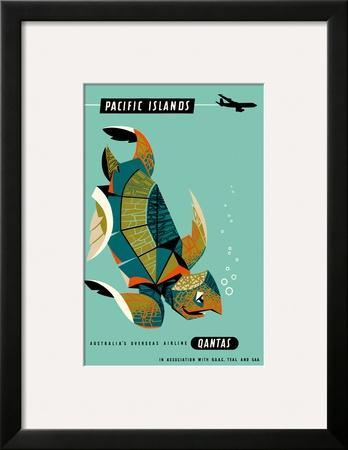 Pacific Islands - Qantas Airways - Green Sea Turtle