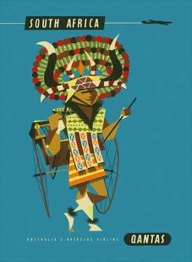 South Africa - African Native Costumed Dancer by Harry Rogers