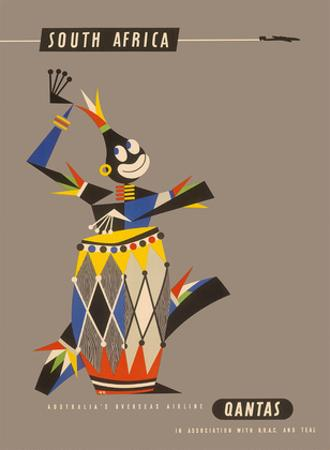 South Africa - Native African Drummer by Harry Rogers