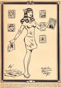 Archie Comics Retro: Archie Comic Panel With Love Veronica Lodge (Aged) by Harry Sahle