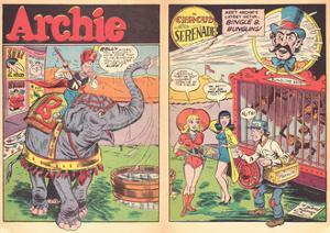 Archie Comics Retro: Archie Comic Spread Circus Serenade  (Aged) by Harry Sahle