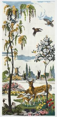 Magnum Opus: Fallow Deer, Pub. 1933 (Colour Litho) by Harry Wearne