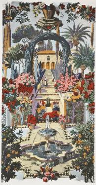 Spanish Garden, Pub. 1933 (Colour Litho) by Harry Wearne