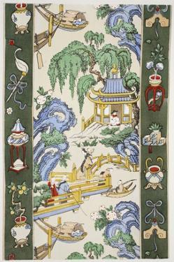 The Pagoda, Pub. 1933 (Colour Litho) by Harry Wearne