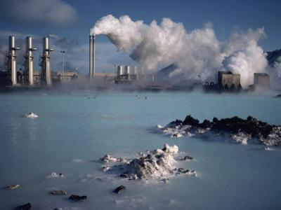 Geothermal Power Plant and Blue Lagoon at Svartsengi, Iceland, Polar Regions
