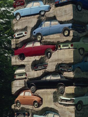 Long Term Parking, Arman 1982, Fondation Cartier at Jouy-En-Josas, Ile De France, France, Europe