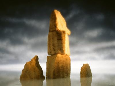 Rocky Landscape Made of Cheese