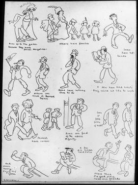 Harvard University Cartoon, Early 20th Century by G Williams