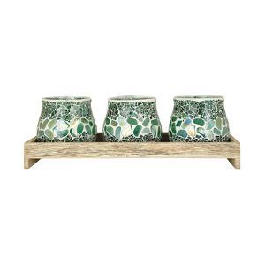 Harwich Seaglass Candleholder Set *