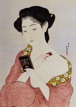 A Woman in Underclothes, 1918 by Hashiguchi Goyo