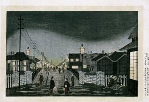 Night View, Nihonbashi, 1880 by Hashiguchi Goyo