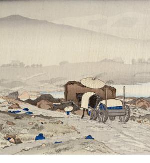Rain at Yabakei by Hashiguchi Goyo