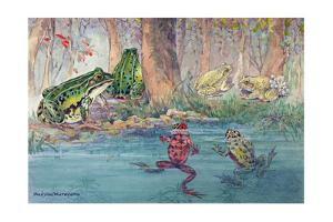 A Variety of Toads Can Be Found at the Water's Edge by Hashime Murayama