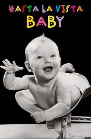 Hasta la Vista (Baby) Art Poster Print
