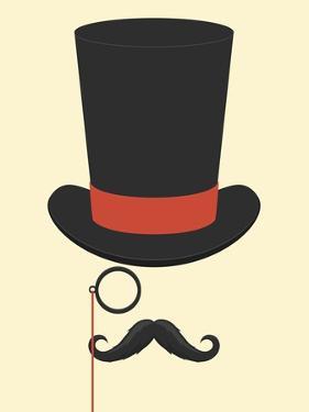 Hat Monocle and Moustache