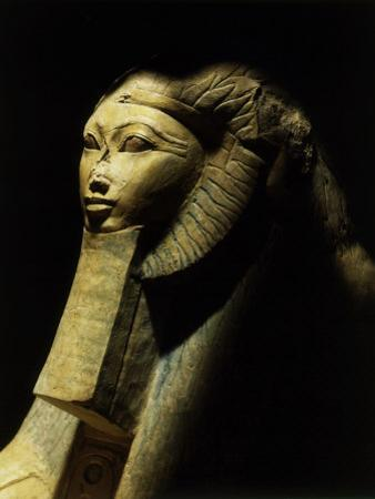 Hatshepsut as a Sphinx, One of Pair, Colossal Statue from her Funeary Temple at Deir el-Bahri
