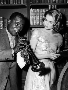Haute societe, HIGH SOCIETY by CharlesWalters with Louis Armstrong and Grace Kelly, 1969 (b/w photo