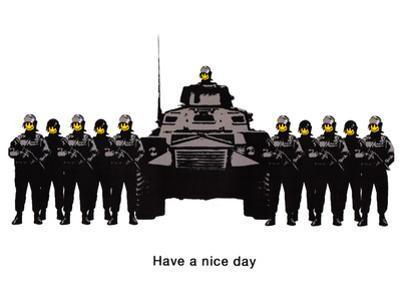 Have A Nice Day Cops Tank Graffiti