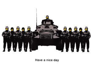 Have A Nice Day Cops Tank Graffiti