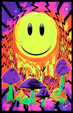 Have a Nice Trip Flocked Blacklight Poster